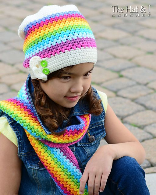 Crayon Box Hat Scarf Pattern By Marken Of The Hat I Crayon Box