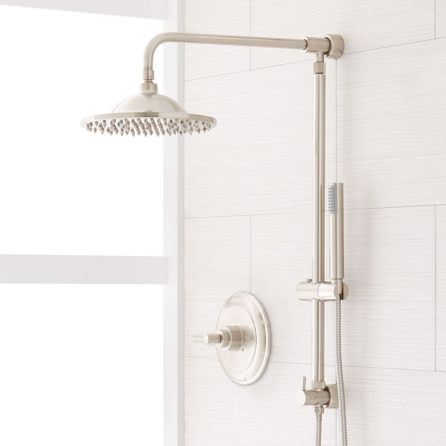 8 Bostonian Nozzle Shower System In Hand Shower In Mixing Valve