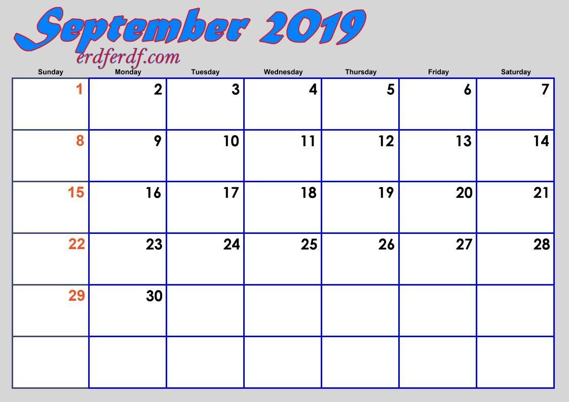 Blank 2019 Calendar By Month Calendar Template 2019 Calendar