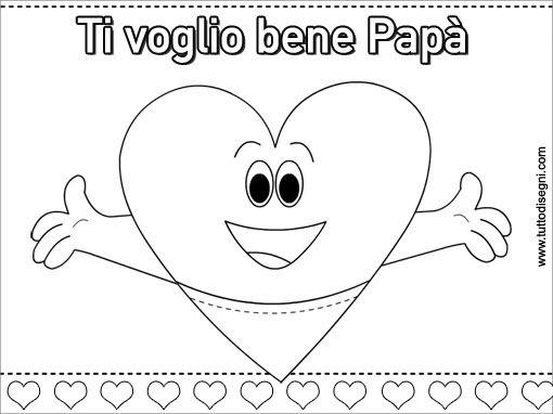 Biglietto Festa Del Papa Da Colorare Tuttodisegni Com Festa Del Papa Papa Fai Da Te Festa Del Papa