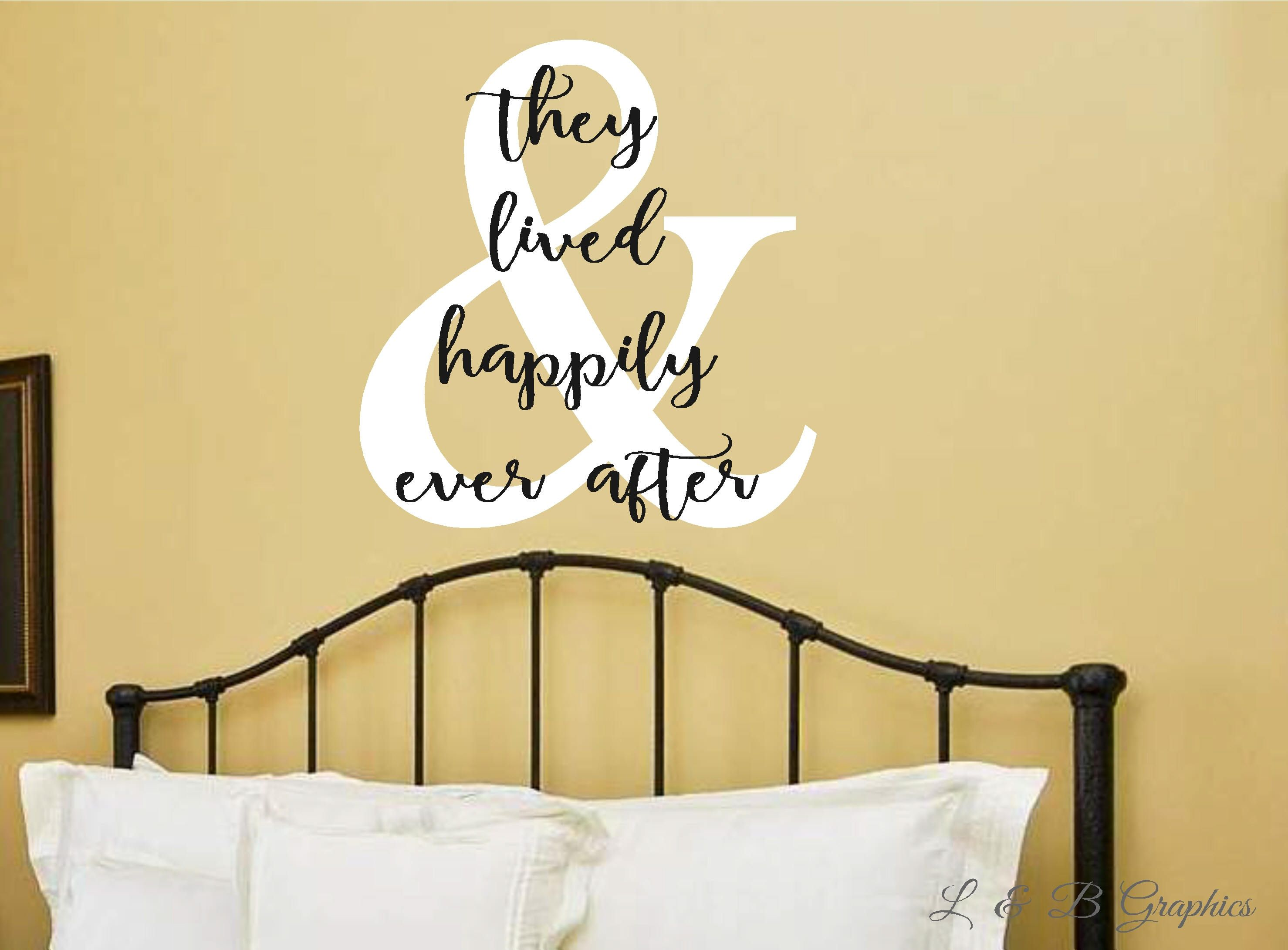 Vinyl Wall Decal- & They Lived Happily Ever After-Vinyl Lettering ...