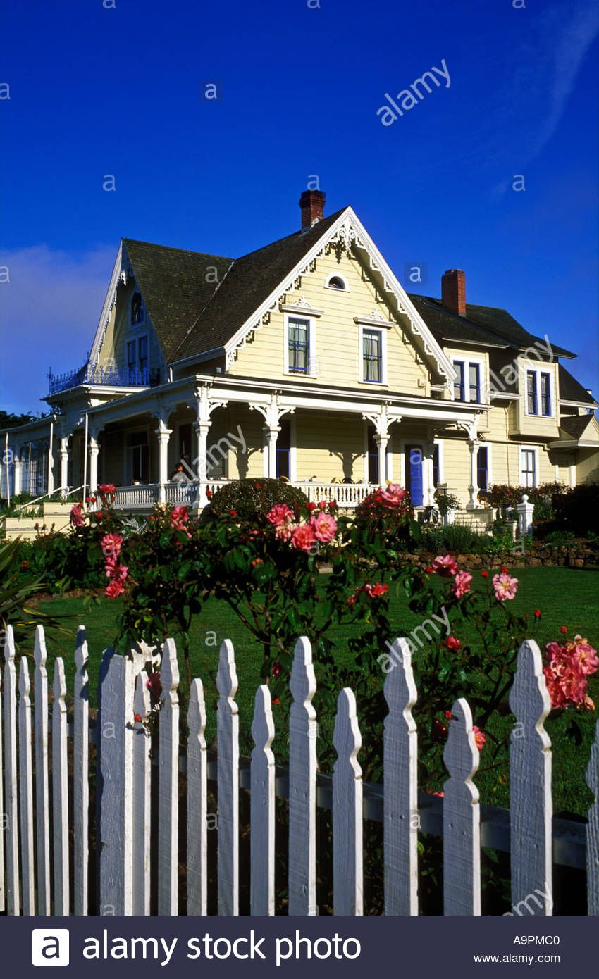 Usa California Mendocino Bed And Breakfast House Victorian