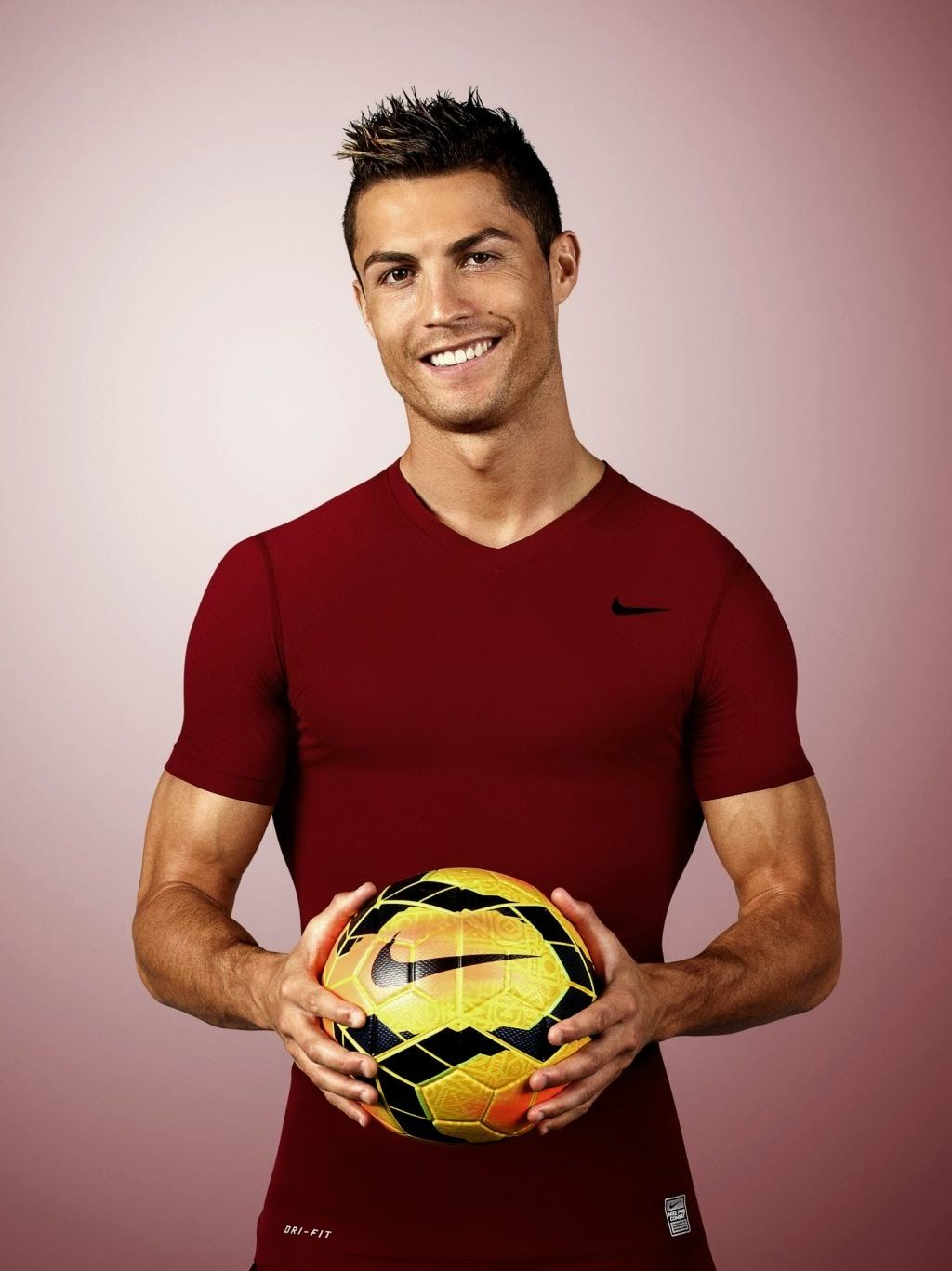 Ronaldo with the Nike Ordem Official Match Ball