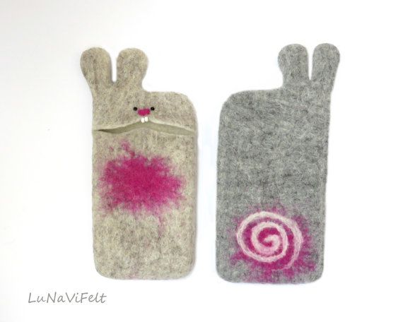New Oatmeal Felt Iphone 6 Case Bunny Casewool Phone By Lunavifelt Nassfilzen Filzen Nass