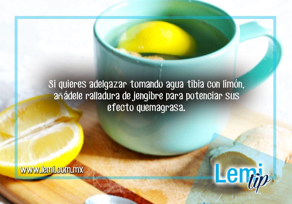 Adelgazar con limon y agua tibia
