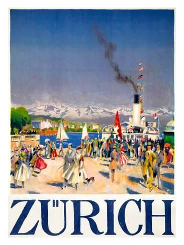 Giclee Print Zurich 44x32in Vintage Posters Vintage Poster