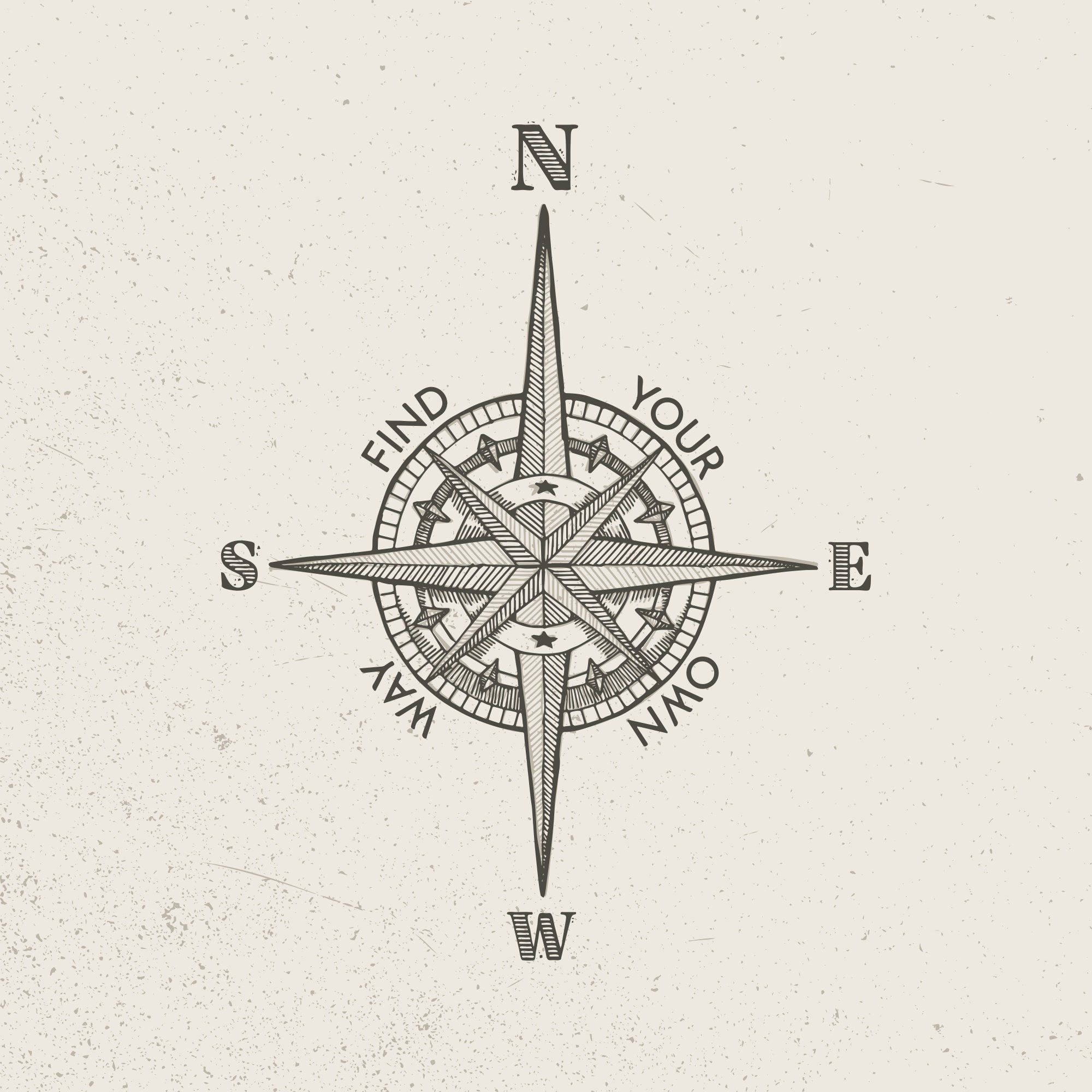 Vector Vintage Compass Style B Etsy Compass Tattoo Traditional Compass Tattoo Compass Tattoo Design
