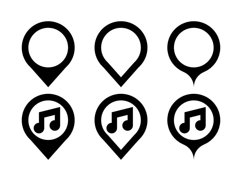 Place Marker Icon Design Collection Marker Icon Icon Design Icon
