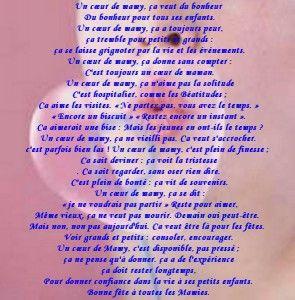 Beaux Poème Avec Carte Et Texte Pour Grand Mère Poeme