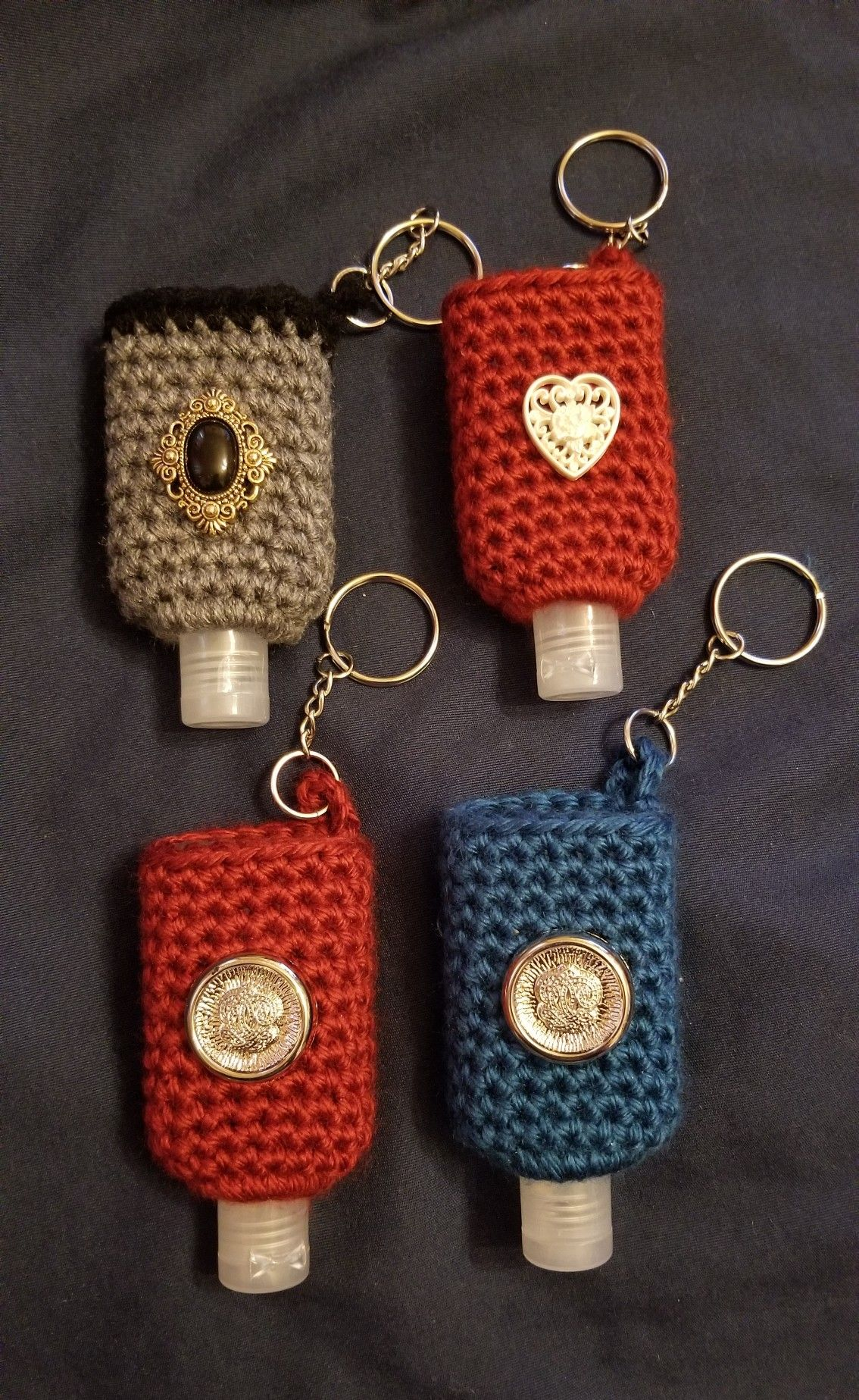 Hand Sanitizer Crochet Covers Crochet Crochet Earrings
