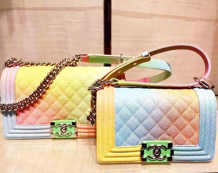 edb329d586cd Boy Chanel Rainbow Flap Bag