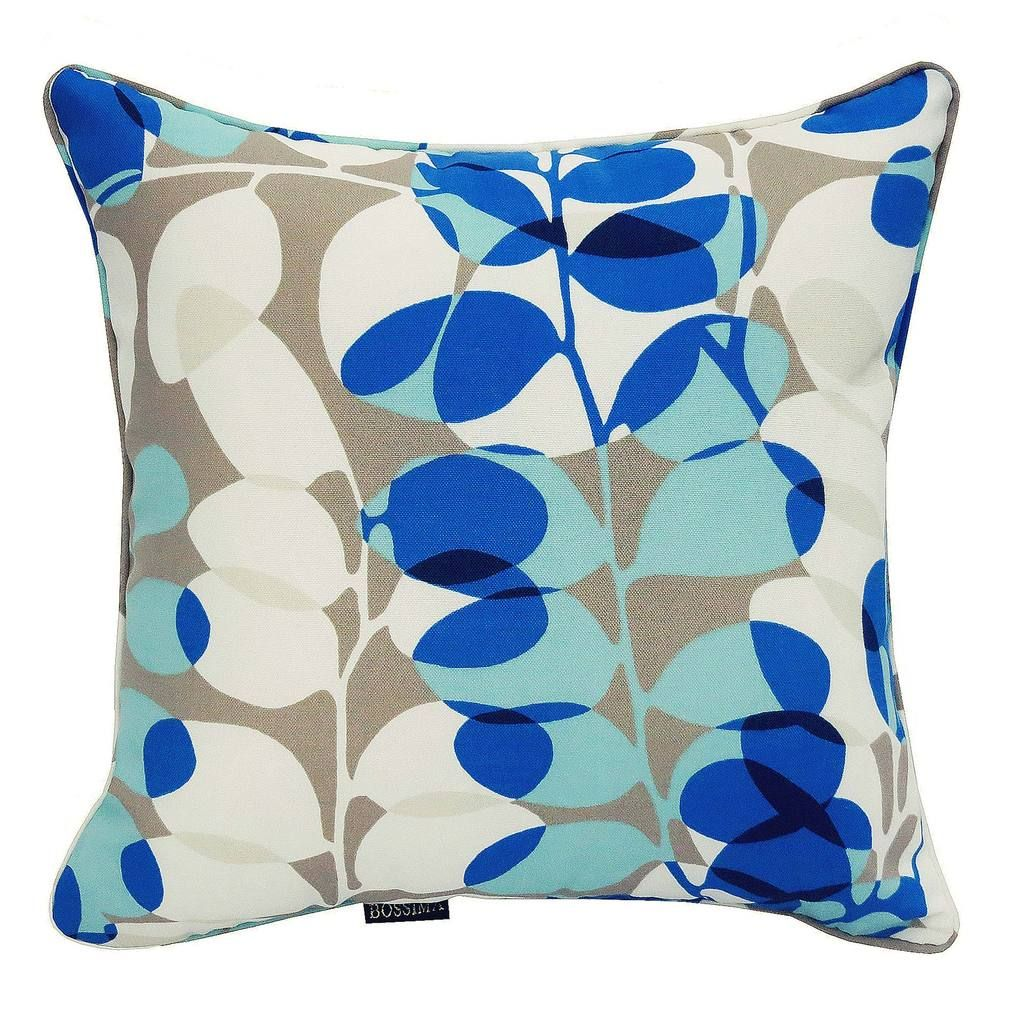 Gardenia floral outdoor scatter cushions set of sky