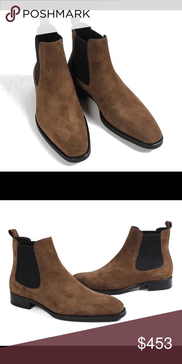 e28e72dbf7e Men's Brown Chelsea Boots Sizes 38-48 US 4-14 Nanaloafers Shoes ...
