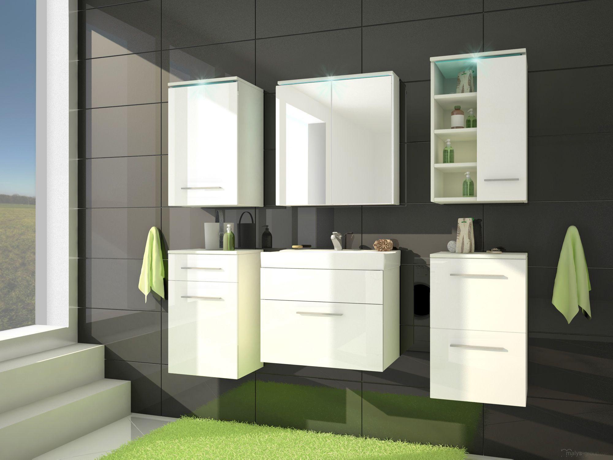 Led Verlichting Badkamer : Badkamer mega uitgevoerd in de kleuren wit hoogglans wit