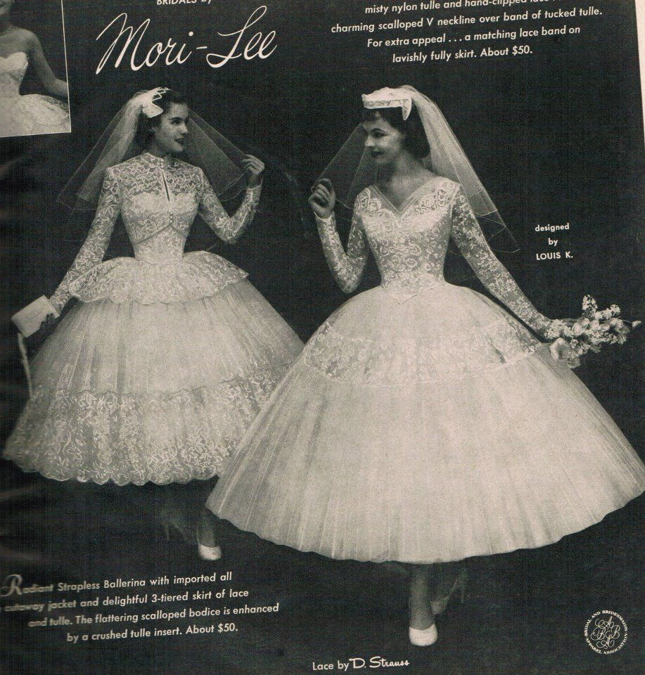 Mori-Lee Brides from the 1950s | 7/5/2014 | Pinterest | Vintage ...