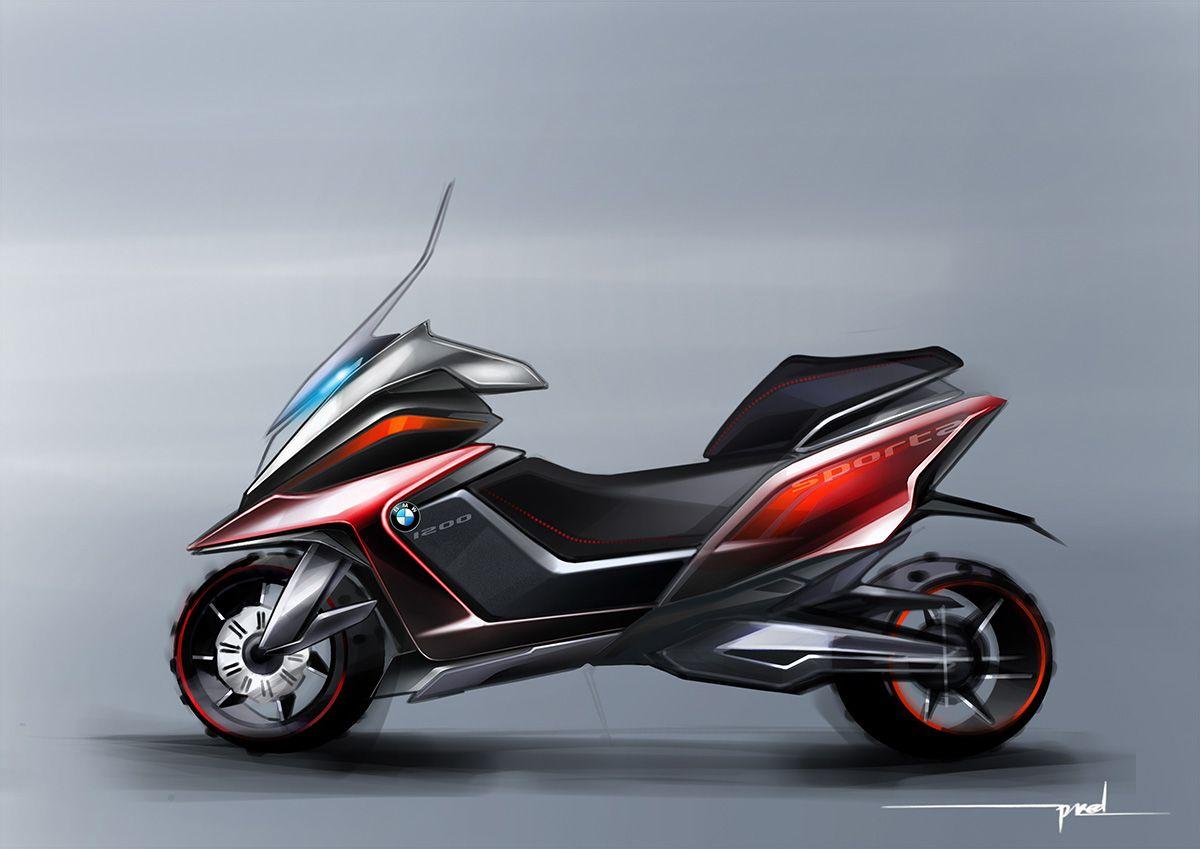 bmw scooter concept sketch i draw motorbikes pinterest