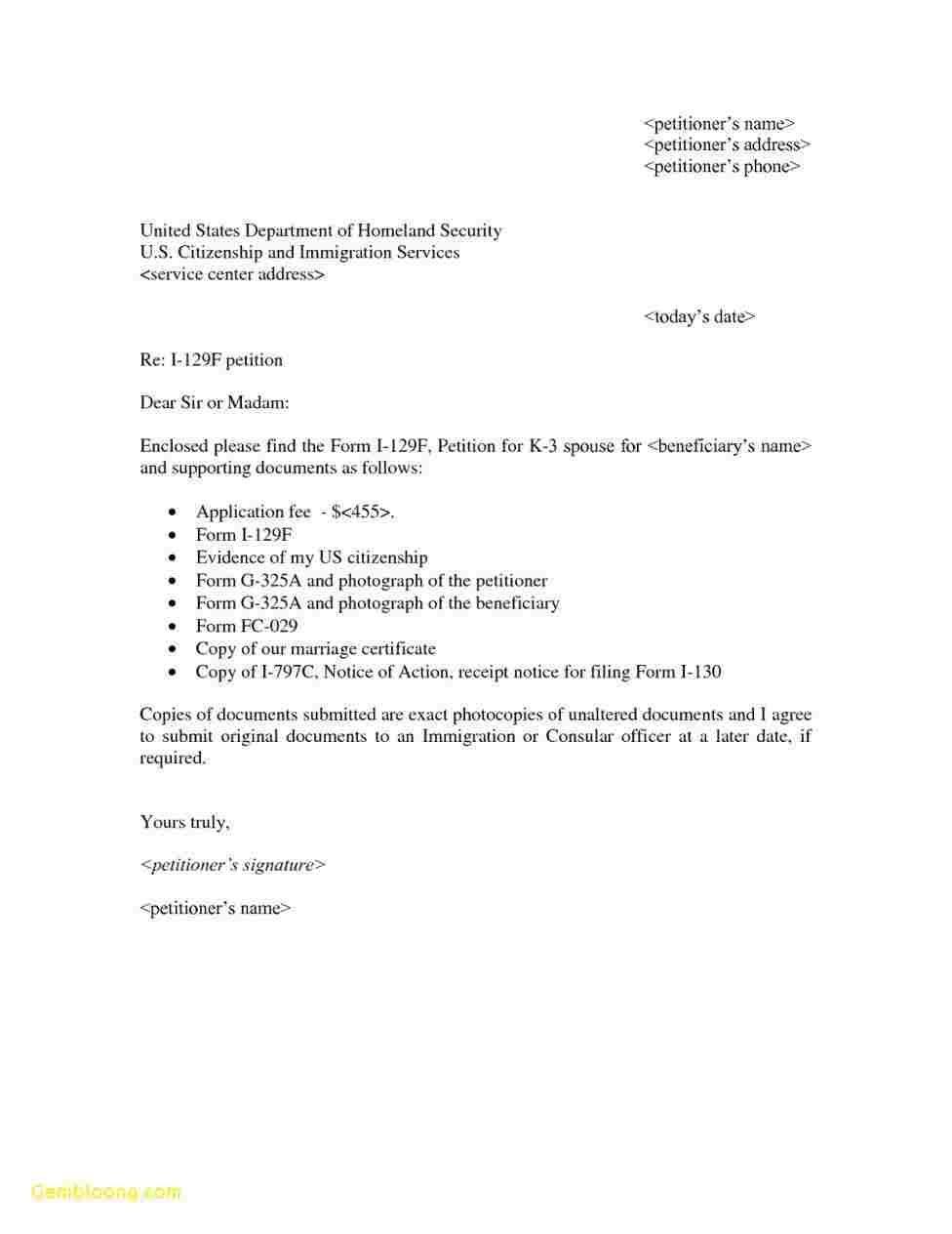 23 I 751 Cover Letter Cover Letter Example Job Letter Cover Letter For Resume