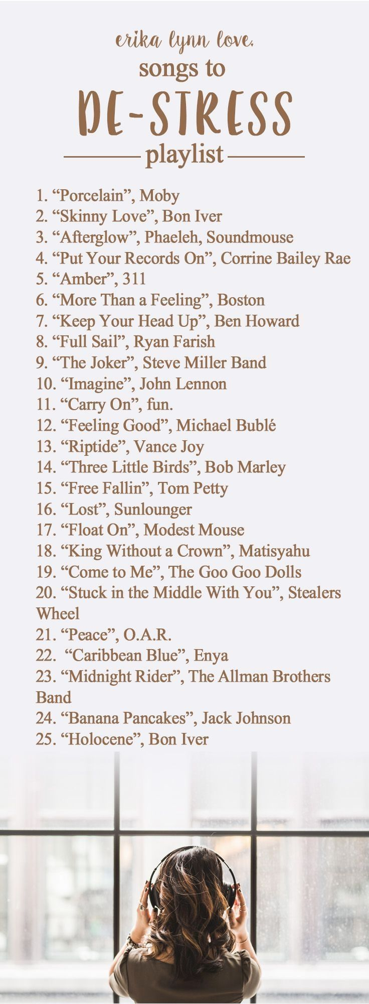 When you are stressed out these songs will help ease your tension.