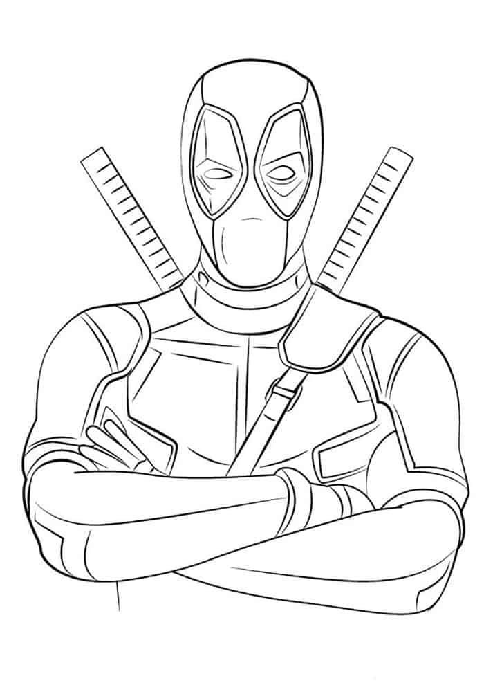 Printable Deadpool Coloring Pages In 2020 Easy Cartoon Drawings Cartoon Drawing Tutorial Drawing Tutorial
