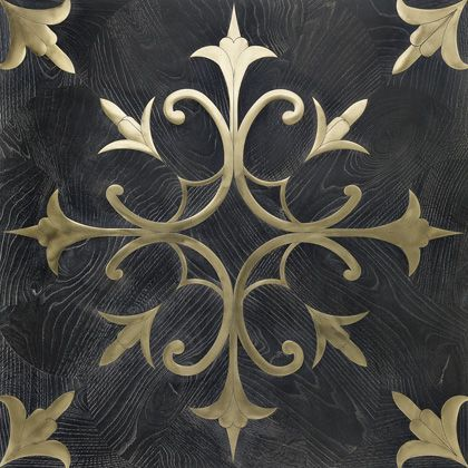 amazing wood with metal inlay floor tile from Italy