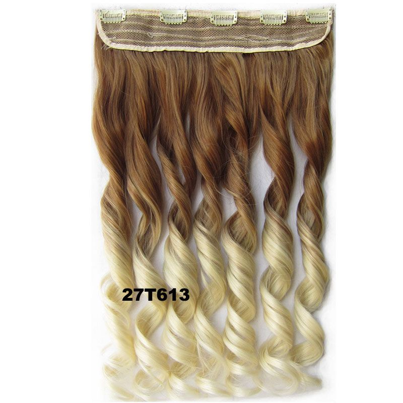 Jeedou Wavy Synthetic Hair One Piece 5clips In Hair Extension 24
