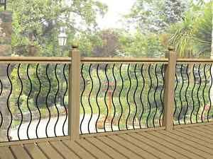 Metal Garden Decking Railing Panels Patio Rails Steel Balustrade Fencing