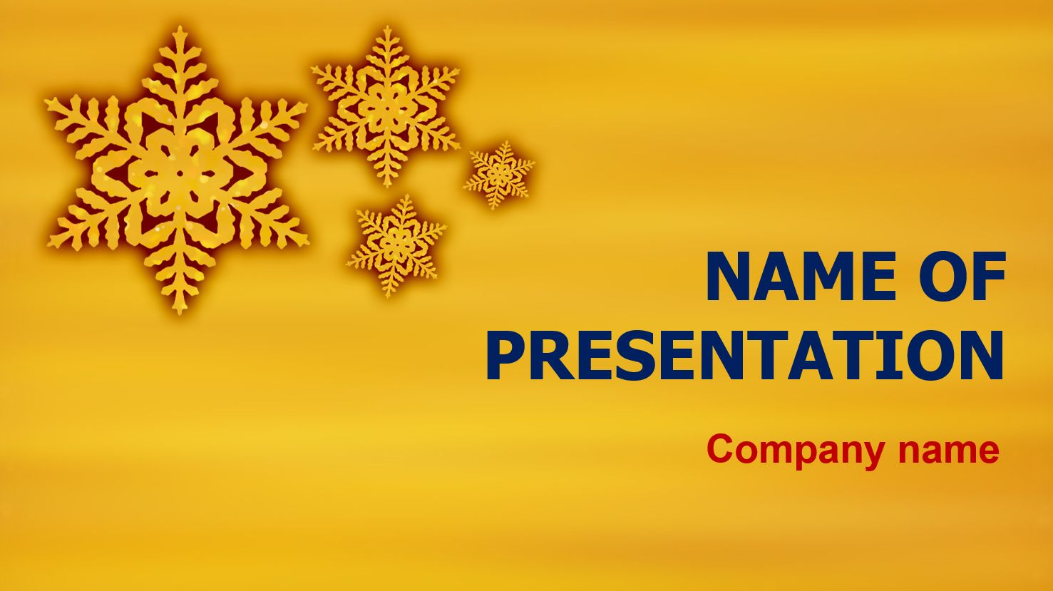 Free Gold Snowflakes Powerpoint Theme This Beautiful And Creative Powerpoint Theme Will Be A Great Choice Powerpoint Themes Gold Snowflake Creative Powerpoint