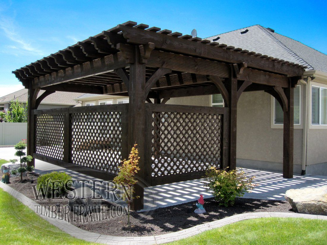 Free Standing Pergola With Rich Cordoba Stain And Champion