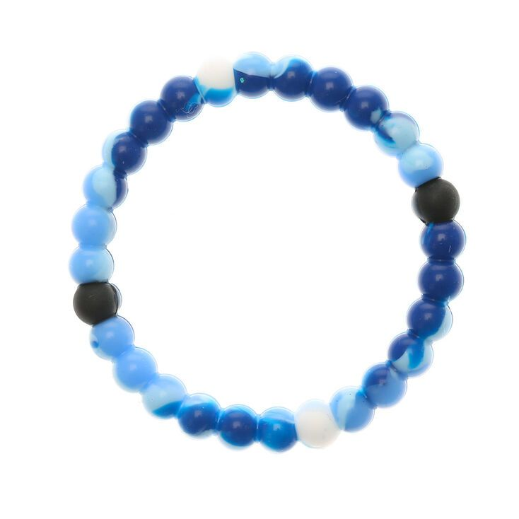 Claire's Marble Fortune Stretch Bracelet - Blue
