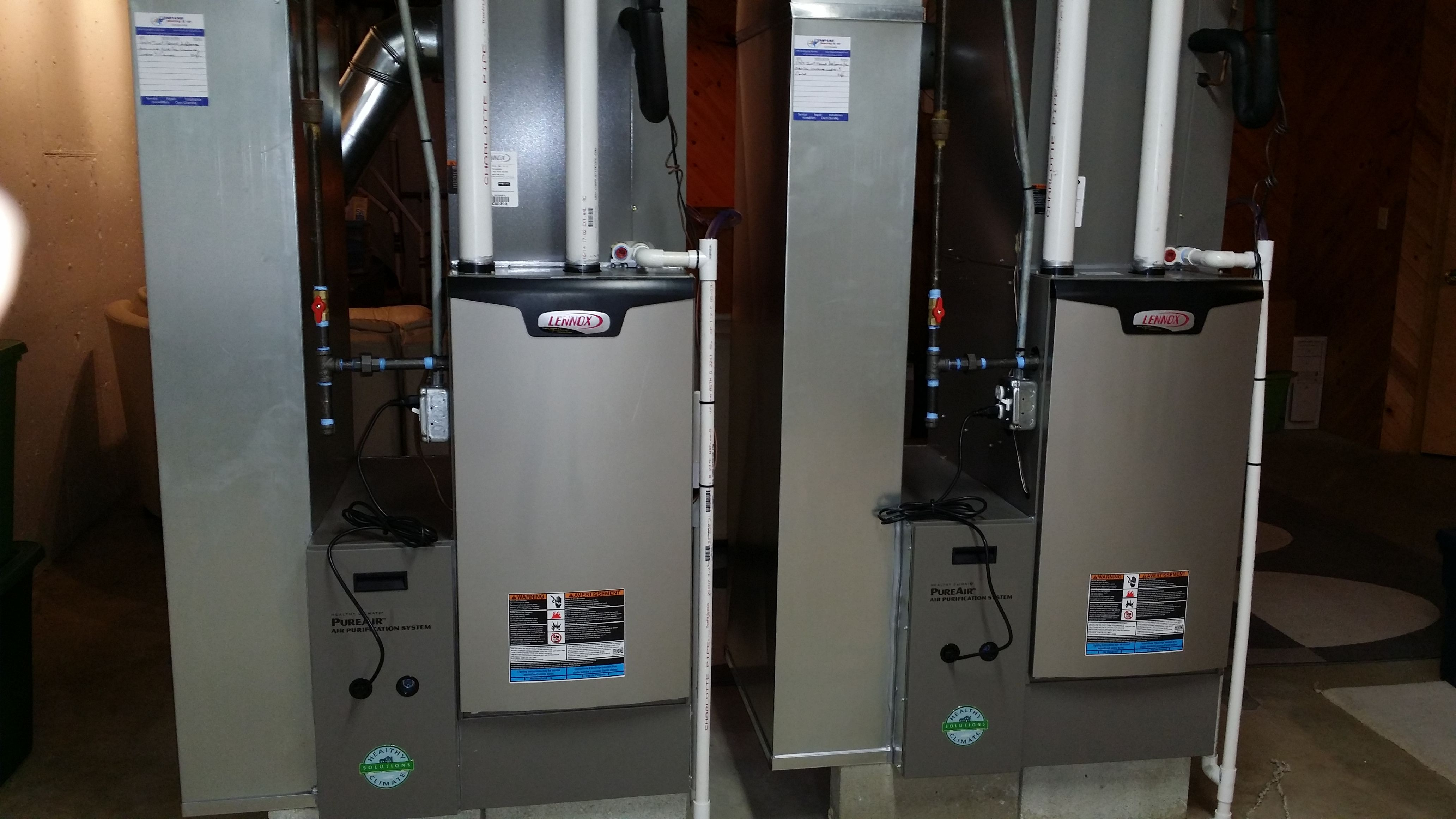 A Pair Of Modulating 98 Efficient Lennox Furnaces With Pureair