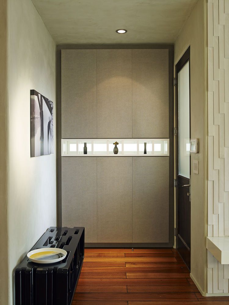 Custom casework in a San Francisco entryway (With images