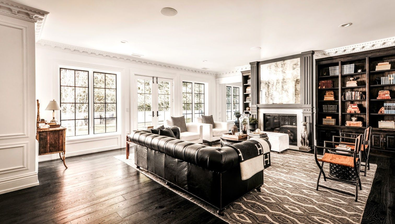 Pin By Meredith Pugh On Living Room Home Black Living Room Dream Living Rooms Million dollar homes living rooms