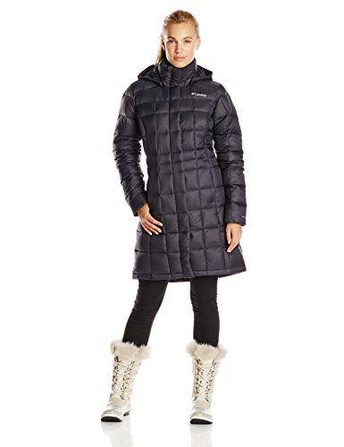 Columbia Sportswear Women's Hexbreaker Long Down Jacket, Black ...