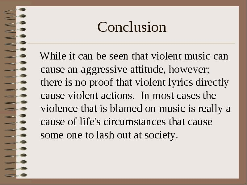 does rap music cause violence