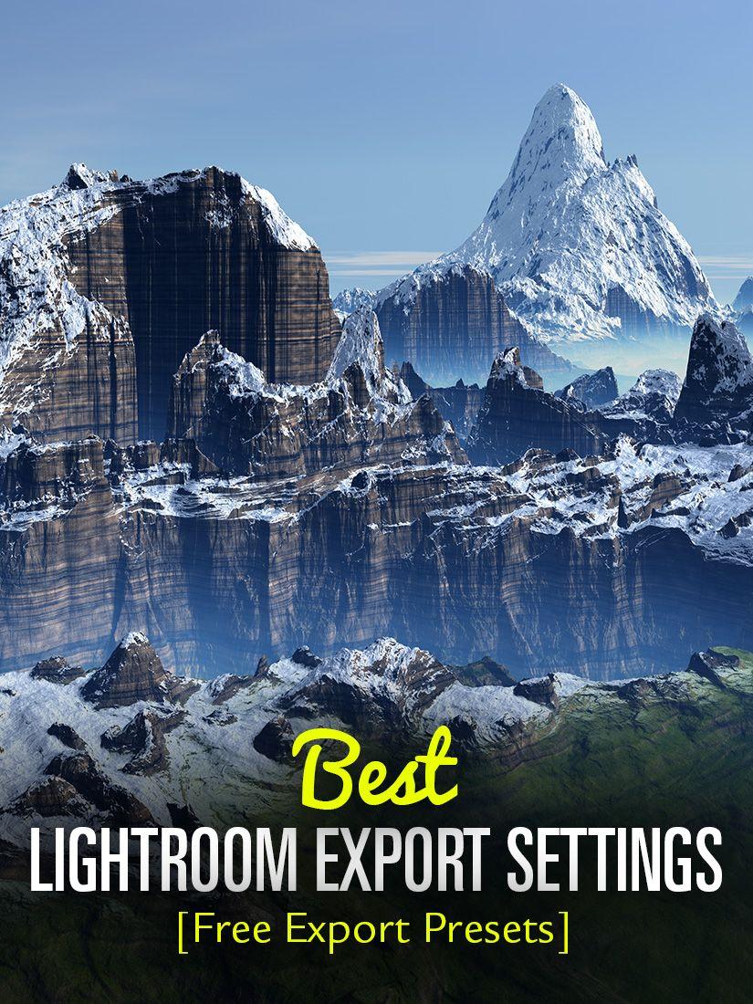 Lightroom settings for facebook