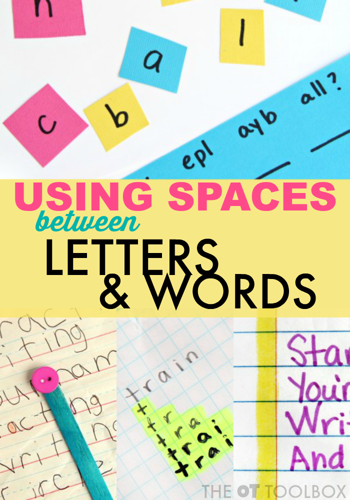 We've shared a lot of creative ways to work on handwriting here. The spatial awareness handwriting activities on this page are ones that will help your child or student write more legibly with space between letters and words.  One of the most effective ways to help students write is to address the spacing issues.  When ... Read More about Spatial Awareness Handwriting Activities