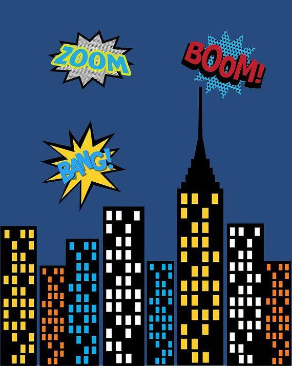 Super Hero Captain America Cityscape Wall Art by ...