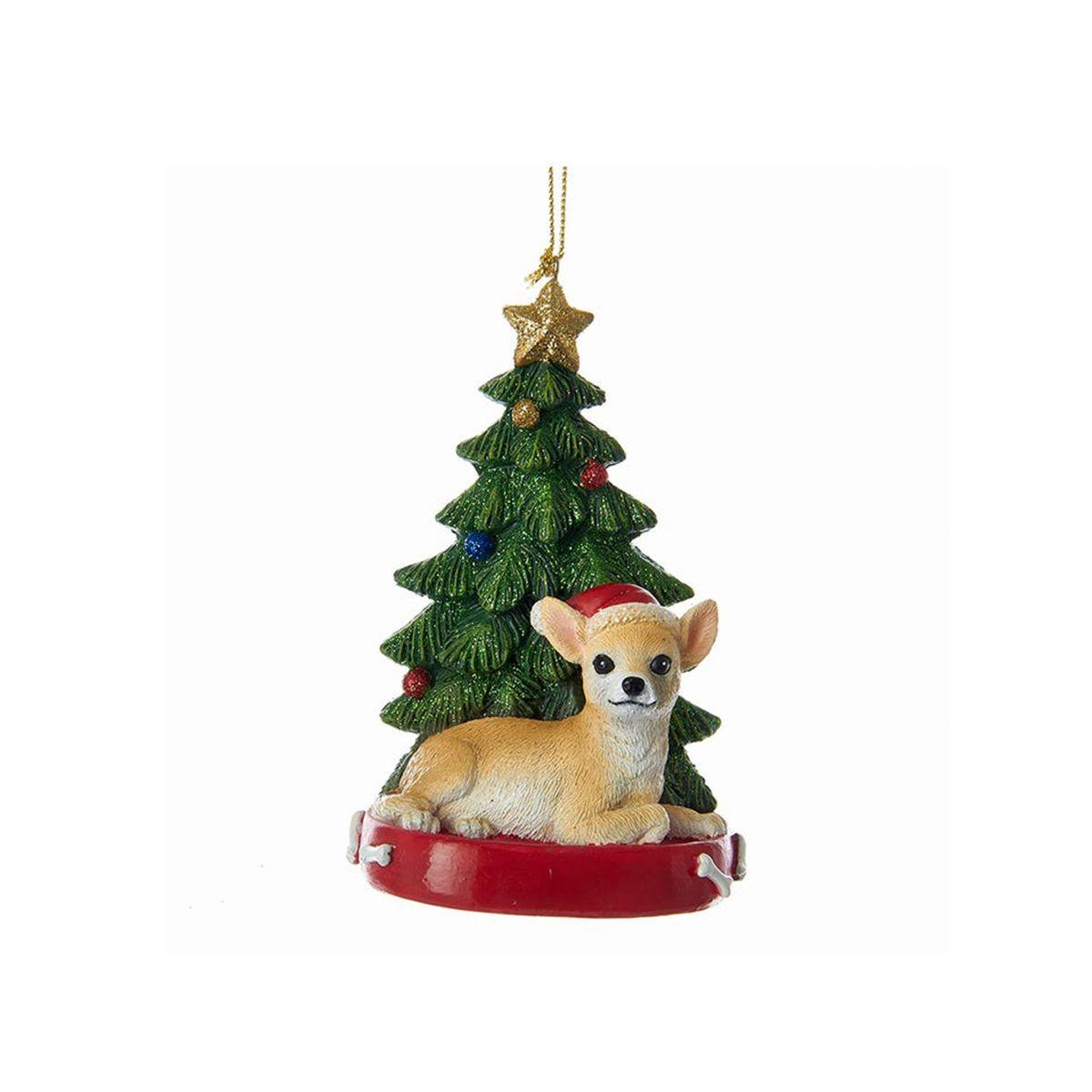 Kurt Adler Chihuahua With Christmas Tree Ornament For Personalization Christmas Tree Ornaments Christmas Ornaments Tree Ornaments