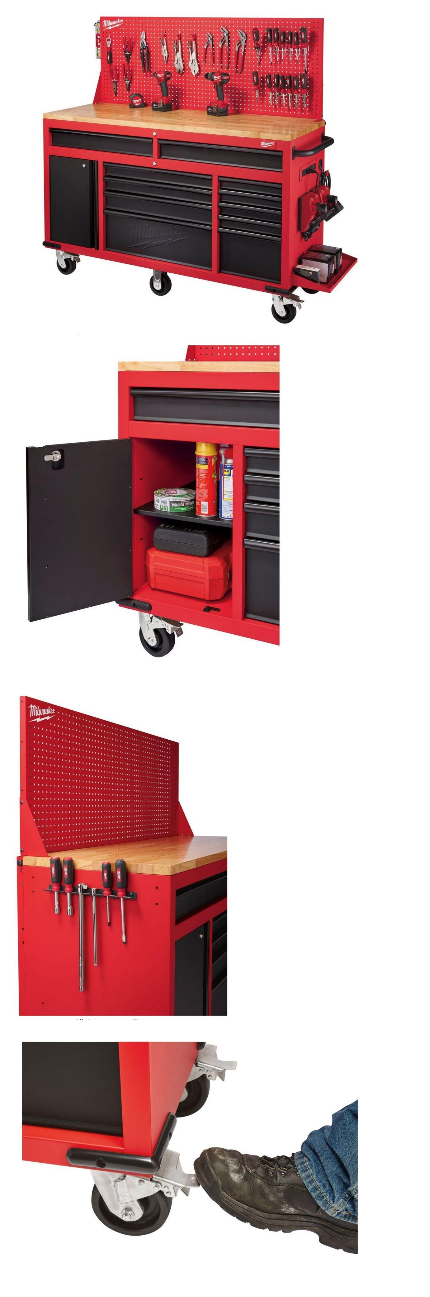 Bo And Cabinets 42363 Tool Chest On Wheels Rolling Workbench Combo Mobile Mechanics Storage Cabinet