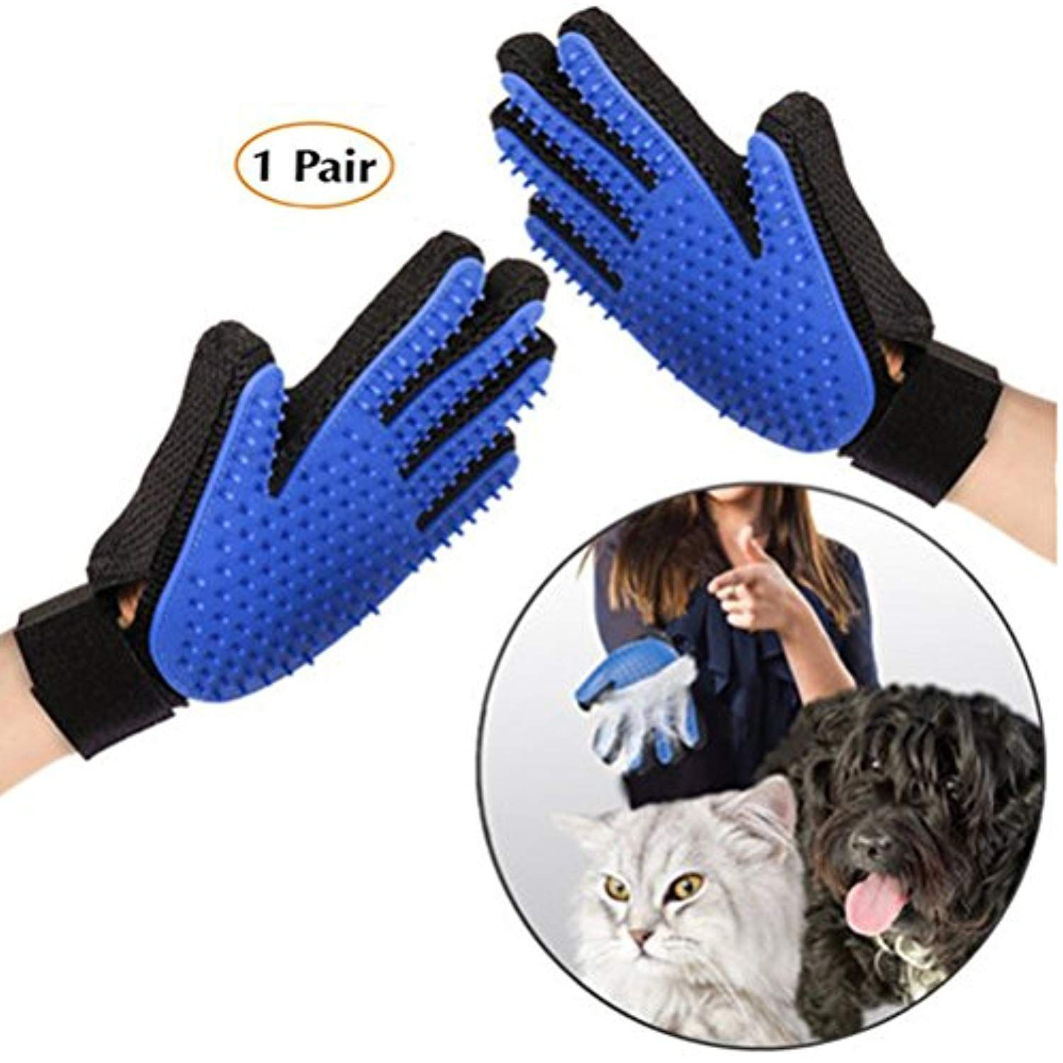 Honykids Pet Grooming Glove Efficient Pet Hair Remover Glove