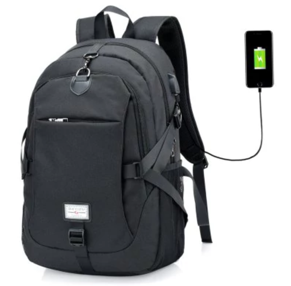 6225273af7977 NEW COUPON - Men Casual Durable Canvas Backpack with USB Port for  13.99!  חדש!