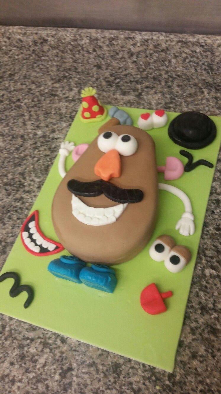 Groovy Mr Potato Head Birthday Cake With Images Birthday Cake Kids Personalised Birthday Cards Veneteletsinfo