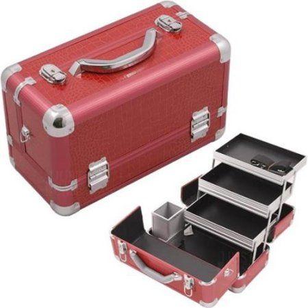 Hiker Hk3101crrd Red Crocodile Pro Makeup Case Walmart Com In 2020 Makeup Case Makeup Train Case Makeup Storage Box