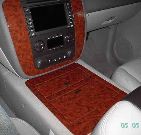 Oem Genuine Factory Wood Grain Floor Console Upgrade For 2007 And Up Avalanche Tahoe Silverado Suburban 267 28