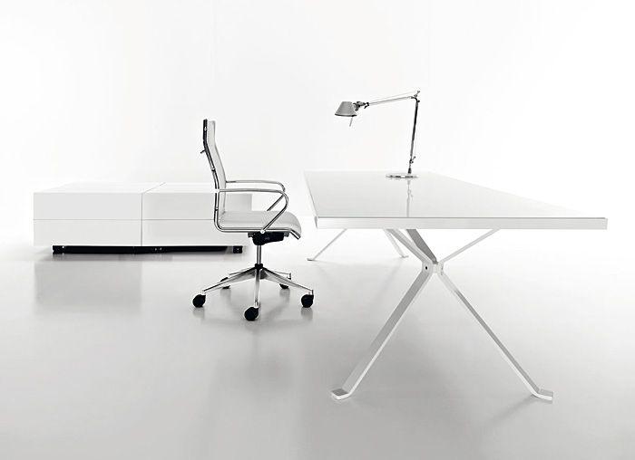 Revo Minimalist White Desk