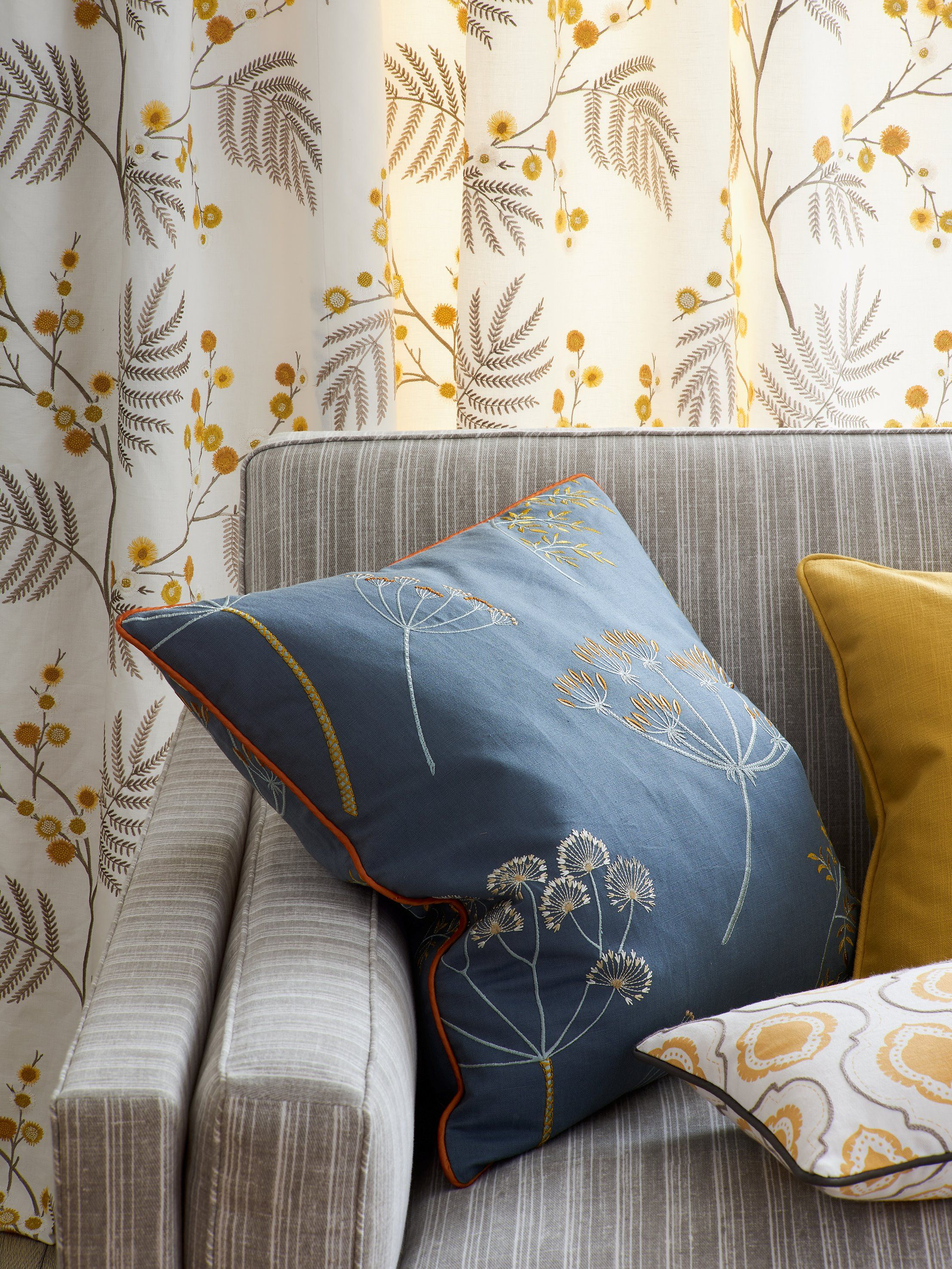 Fabrics from the blakewater collection by jane churchill