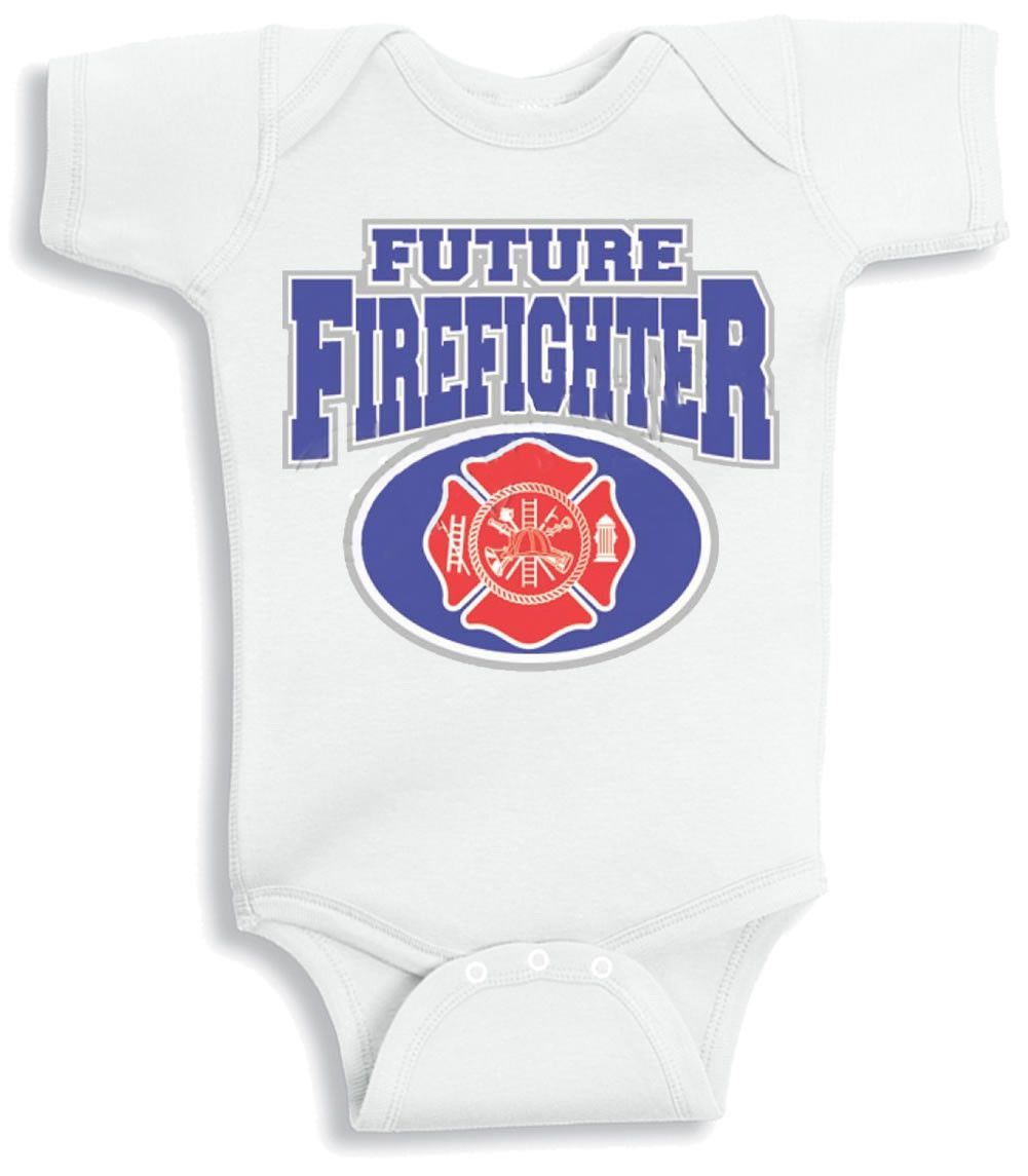 Lil Shirts Future Firefighter Baby Bodysuit