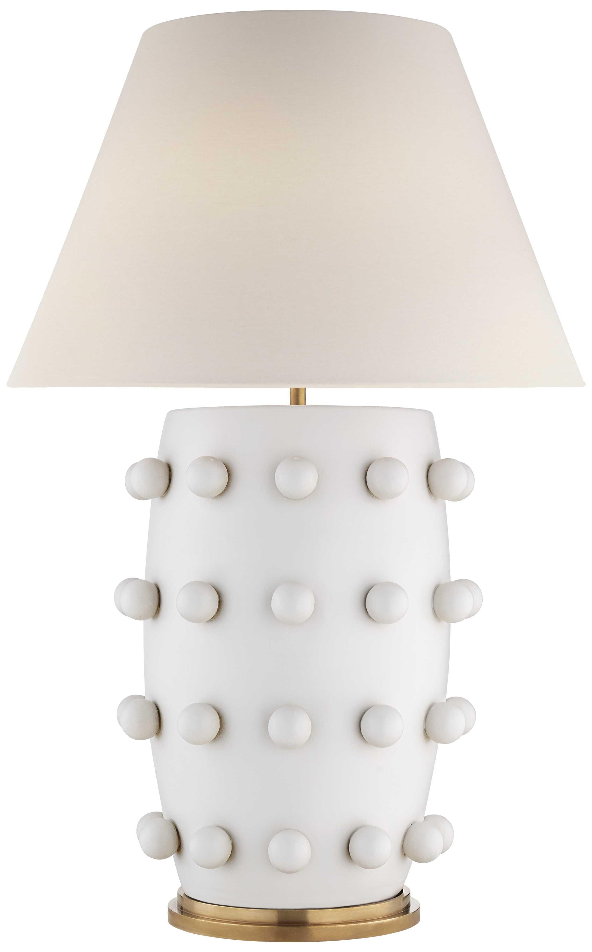 Kelly Wearstler Linden Table L& Plaster White - Gracious Home  sc 1 st  Pinterest & Pinterest