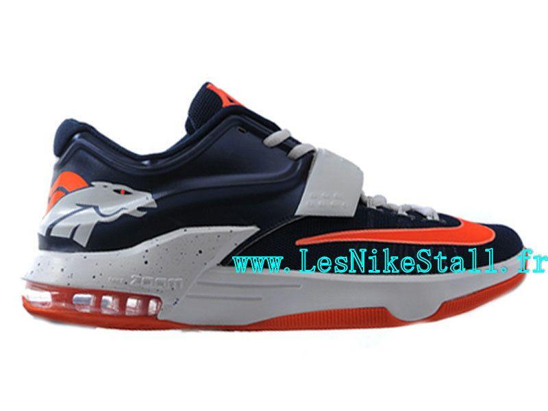 81bcb53e1c0c Officiel Nike KD VII 7 ID Chaussures Nike Basketball Pour Homme Violet  Orange 653996-