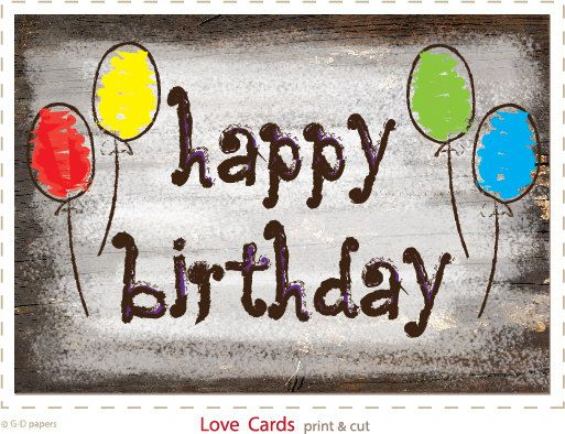 Birthday Cards Printable Cards Wood Design Card To Print Happy